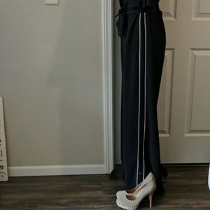 Vera Wang Jumpsuit Tuxedo Leg Details